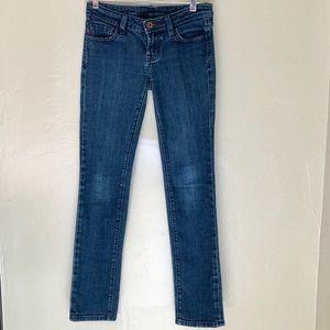 "MISS ME Gweneth ""Red"" medium wash skinny jeans"